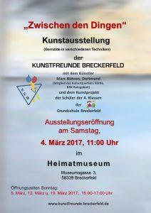 Ausstellung der Kunstfreunde Breckerfeldvom 04.03. – 19.03.2017